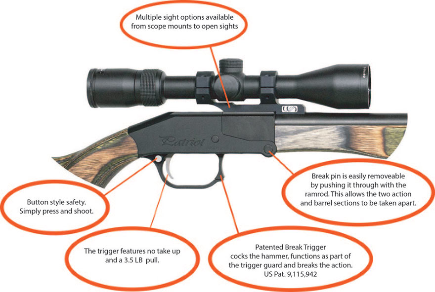 Patriot Muzzleloader Features